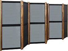 vidaXL Paravento a 6 Pannelli Nero 420x170 cm