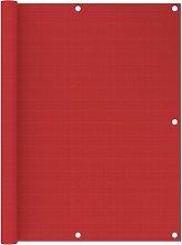 vidaXL Paravento da Balcone Rosso 120x400 cm in