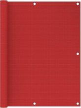 vidaXL Paravento da Balcone Rosso 120x500 cm in