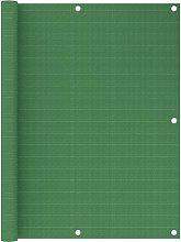 vidaXL Paravento da Balcone Verde Chiaro 120x600