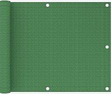 vidaXL Paravento da Balcone Verde Chiaro 75x600 cm