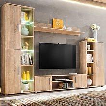 vidaXL Parete Attrezzata Porta TV con Luci LED