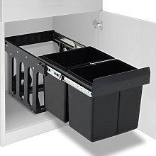 vidaXL Pattumiera Estraibile per Mobile Cucina Eco