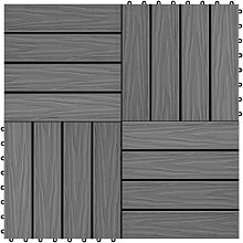 vidaXL Piastrella Decking in WPC 11 pz 30x30 cm 1