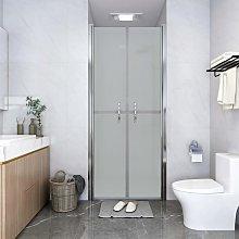 vidaXL Porta per Doccia in ESG Satinato 91x190 cm