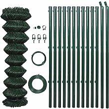 vidaXL Recinto Rete Metallo 1,5x25m Pali Accessori