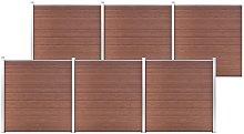 vidaXL Recinzione da Giardino in WPC 1045x186 cm