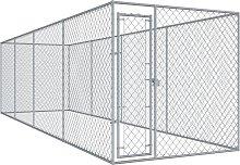 vidaXL Recinzione per Cani da Esterno 760x192x185
