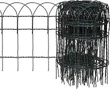 vidaXL Recinzione per Giardino in Ferro Verniciato