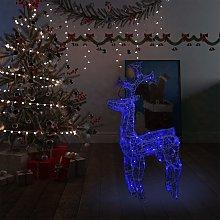 vidaXL Renne e Slitta Decorazione Natale 90 LED