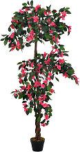 vidaXL Rododendro Artificiale con Vaso Rosa 165 cm