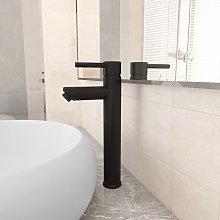 vidaXL Rubinetto Miscelatore da Bagno Nero 12x30 cm