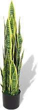 vidaXL Sansevieria Pianta Artificiale con Vaso 90