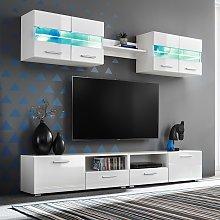 vidaXL Set Parete Attrezzata Porta TV con Luci LED
