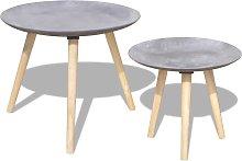 vidaXL Set Tavolini da Salotto 2 pz 55 cm e 44 cm