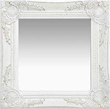 vidaXL Specchio da Parete Stile Barocco 40x40 cm