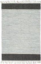 vidaXL Tappeto Chindi Artigianale Pelle 160x230cm
