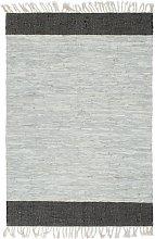 vidaXL Tappeto Chindi Artigianale Pelle 190x280cm