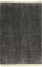 vidaXL Tappeto Kilim in Cotone 120x180 cm Antracite