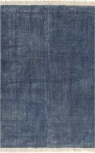 vidaXL Tappeto Kilim in Cotone 120x180 cm Blu