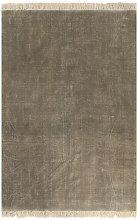 vidaXL Tappeto Kilim in Cotone 120x180 cm Grigio