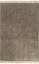 vidaXL Tappeto Kilim in Cotone 160x230 cm Grigio