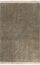vidaXL Tappeto Kilim in Cotone 200x290 cm Grigio