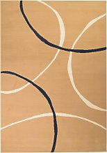 vidaXL Tappeto Moderno con Motivi Circolari 80x150
