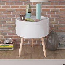 vidaXL Tavolino con Vassoio Rotondo 39,5x44,5 cm