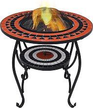 vidaXL Tavolo con Braciere a Mosaico Terracotta e