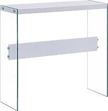 vidaXL Tavolo Consolle Bianco 82x29x75,5 cm in MDF
