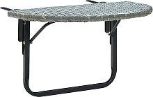 vidaXL Tavolo da Balcone Grigio 60x60x50 cm in