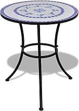 vidaXL Tavolo da Bistrot Blu e Bianco 60 cm a