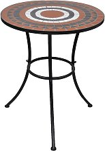 vidaXL Tavolo da Bistrot Terracotta e Bianco 60 cm