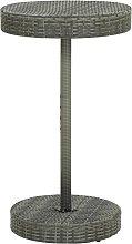 vidaXL Tavolo da Giardino Grigio 60,5x106 cm in