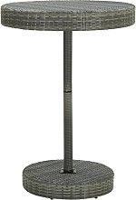 vidaXL Tavolo da Giardino Grigio 75,5x106 cm in