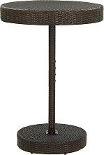 vidaXL Tavolo da Giardino Marrone 75,5x106 cm in