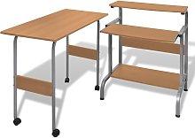 vidaXL Tavolo scrivania per computer postazione di