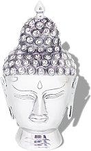 vidaXL Testa di Buddha Decorazione in Alluminio