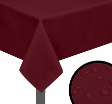 vidaXL Tovaglia 5 pz 100x100 Bordeaux - Rosso