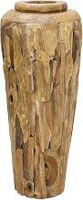 vidaXL Vaso Decorativo in Legno Massello di Teak