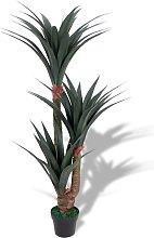 vidaXL Yucca Artificiale con Vaso 155 cm Verde