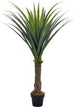 vidaXL Yucca Artificiale con Vaso Verde 145 cm