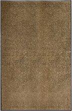 vidaXL Zerbino Lavabile Marrone 120x180 cm