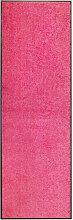 vidaXL Zerbino Lavabile Rosa 60x180 cm