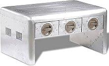 VIENDADPOW Tavolino Aereo con 3 Cassetti Vintage