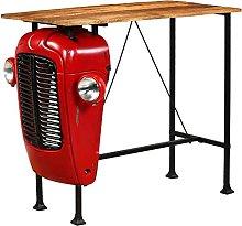 VIENDADPOW Tavolino da Bar Trattore in Mango