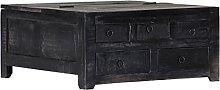 VIENDADPOW Tavolino da caffè Nero 65x65x30cm in