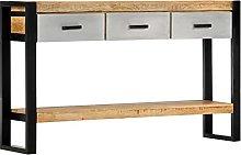VIENDADPOW Tavolo Consolle 130x30x76cm in Legno