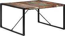 VIENDADPOW Tavolo da Pranzo 140x140x75 cm in Legno